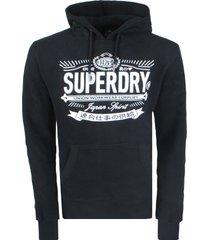 superdry heren hoodie mono biker hood -