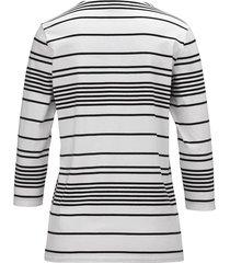 topp dress in vit::svart