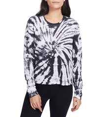 sage collective women's tie-dyed jersey t-shirt - black - size xl