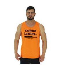 regata clássica masculina alto conceito caffeine loading laranja