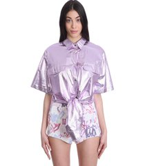 isabel marant giliggy shirt in viola synthetic fibers