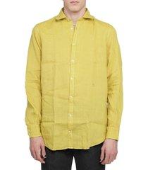 massimo alba mustard canary shirt