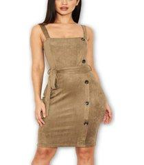 ax paris women's button front belted dress
