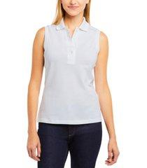 lacoste sleeveless polo top