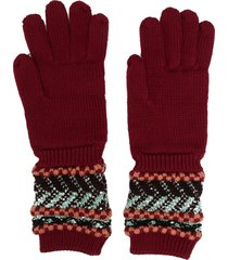 missoni ring-detail knit gloves - red