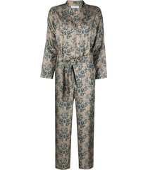 813 all-over print jumpsuit - neutrals