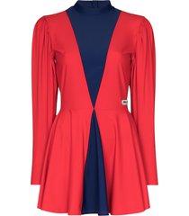 adidas x lotta volkova two-tone skater dress - red