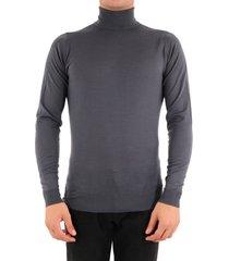 john smedley merino wool sweater gray