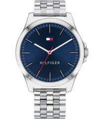 tommy hilfiger men's stainless steel bracelet watch 43.8mm