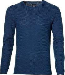 sale - lerros pullover - modern fit - blauw