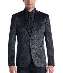 awearness kenneth cole gray paisley slim fit velvet dinner jacket
