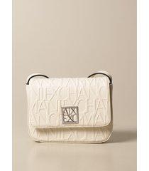 armani exchange mini bag armani exchange shoulder bag in synthetic leather with embossed logo
