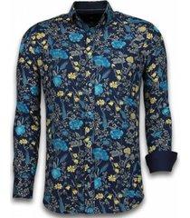 overhemd lange mouw tony backer blouse coloured flower pattern