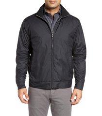 men's peter millar zip jacket, size x-large - black