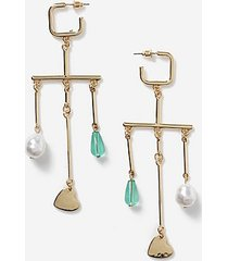 *charm drop earrings - blue