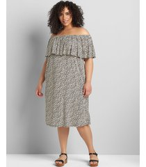 lane bryant women's convertible off-the-shoulder a-line dress 34/36 marble print