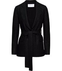 women belted blazer light pressed wool blazers casual blazers svart harris wharf london