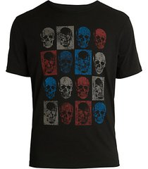 skull boxes graphic t-shirt