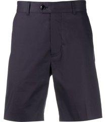 brett johnson mid-rise chino shorts - blue