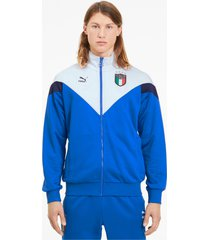 italia iconic mcs track jacket voor heren, blauw/wit, maat xs   puma