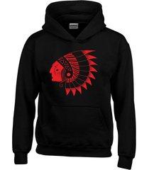 buzo indio piel roja con capota saco buso hoodies
