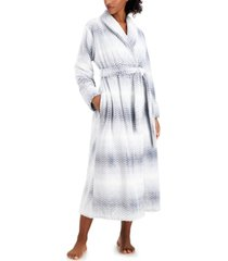 charter club long ombre cozy robe, created for macy's