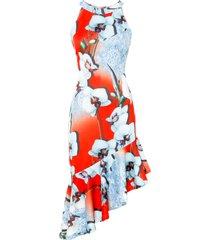 abito con scollo all''americana (rosso) - bodyflirt boutique