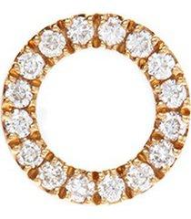 'o' diamond 18k yellow gold charm - give a hug