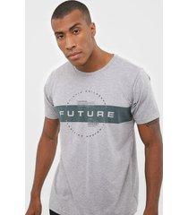 camiseta fiveblu future cinza