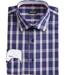 buffalo david bitton men's slim-fit yarn-dyed plaid dress shirt
