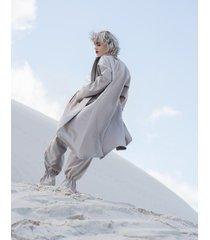 płaszcz dark beige longline