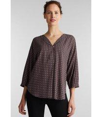 blusa estampada en lenzing™ ecovero™ negro esprit