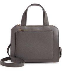 valextra mini passepartout leather satchel - grey