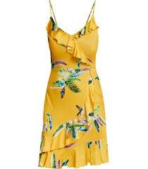 abito a fiori con volant (giallo) - bodyflirt boutique