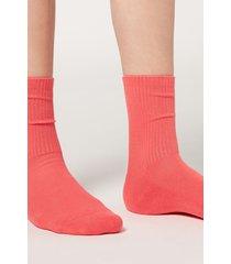 calzedonia short sport socks woman red size tu
