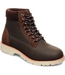 high cut shoe upstate snörade stövlar brun champion