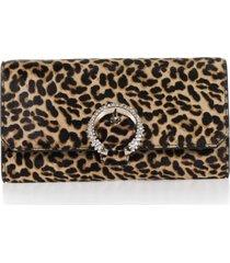 jimmy choo leopard leather wallet