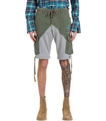 greg lauren cargo bermuda shorts