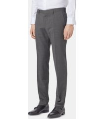 boss men's slim fit virgin wool trousers