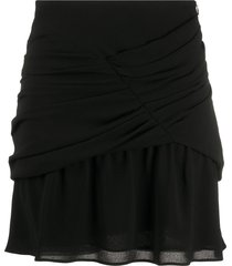 iro gathered chiffon mini skirt - black
