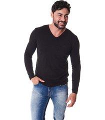suéter convicto dupla face preto