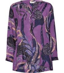 baha top blouse lange mouwen paars masai