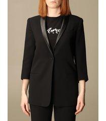 armani collezioni armani exchange blazer armani exchange single-breasted jacket with synthetic leather collar