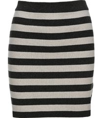 kenzo knitted striped high-waisted skirt