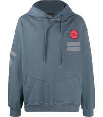 vivienne westwood anglomania patchwork drawstring hoodie - grey