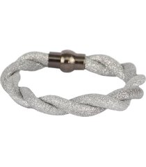 pulseira armazem rr bijoux fio brilhoso prata