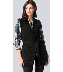 mouwloos vest alba moda zwart