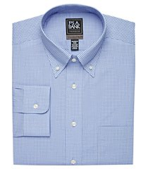 travel tech collection tailored fit button-down collar gingham shirt clearance, by jos. a. bank