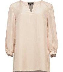 lafayette 148 new york women's gaia signore stripe silk blouse - clay multi - size s