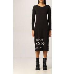 armani collezioni armani exchange dress long cotton maxi logo t-shirt